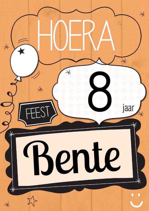 Verjaardagskaarten - Hoera....jaar feest-ByF