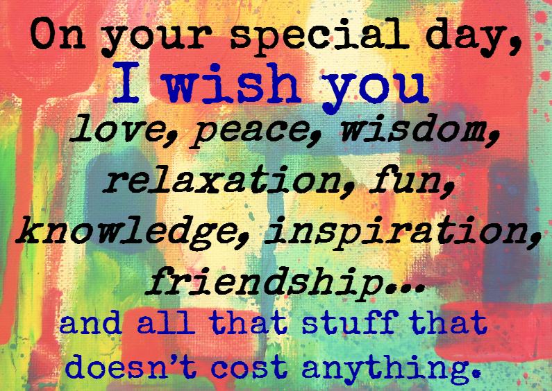 Verjaardagskaarten - I wish you love and peace
