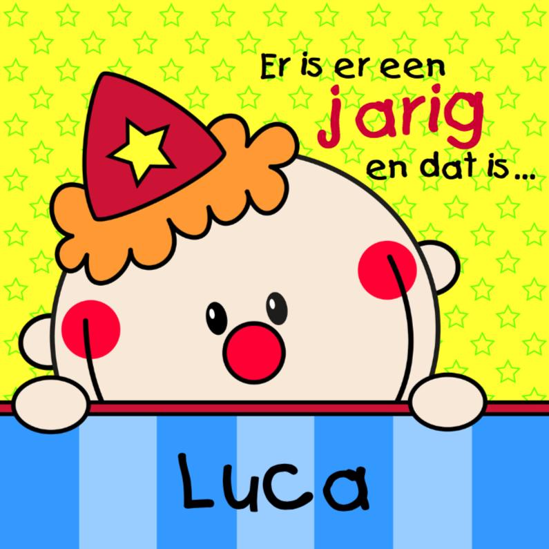 Verjaardagskaarten - Jarig Clowntje