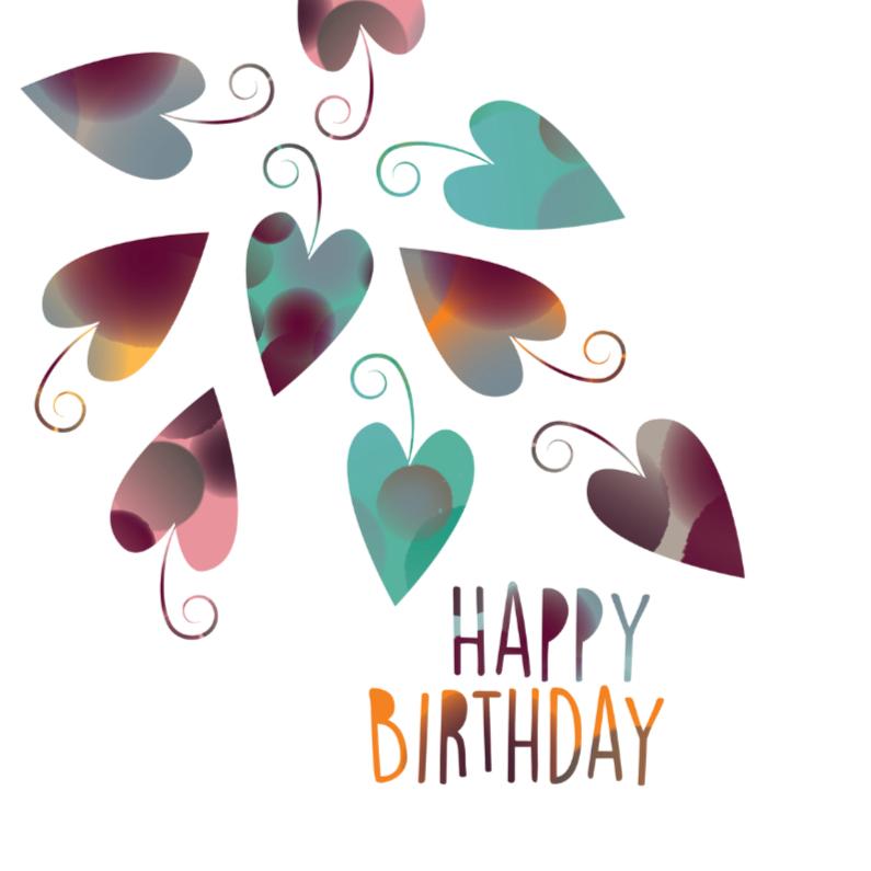 Verjaardagskaarten - Jarig - Happy Leaves - MW
