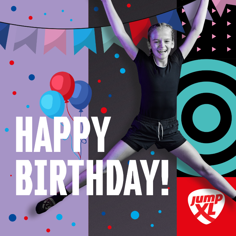 Verjaardagskaarten - Jump XL Verjaardagskaart Felicitatie Meisje