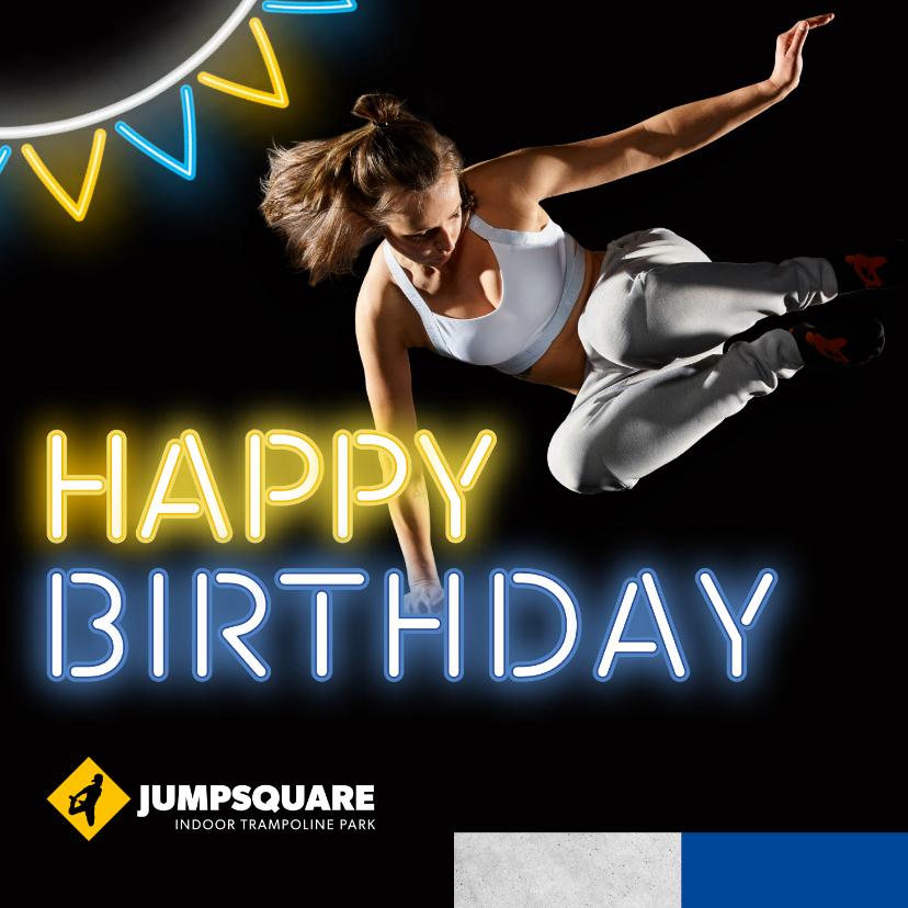 Verjaardagskaarten - Jumpsquare verjaardagskaart meisje