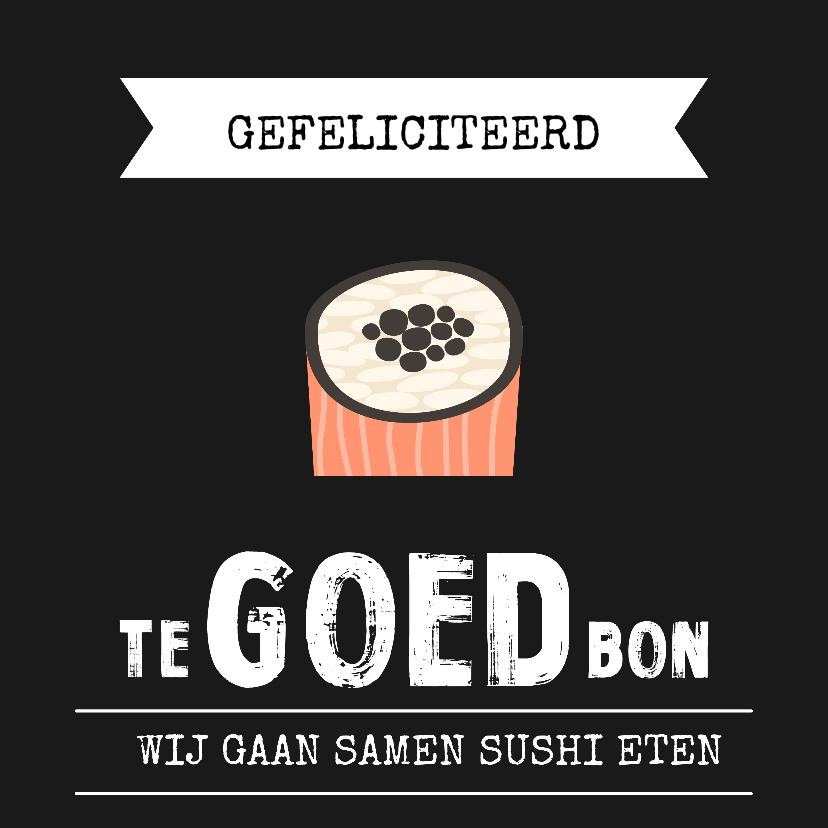 Verjaardagskaarten - Kaart tegoedbon sushi eten