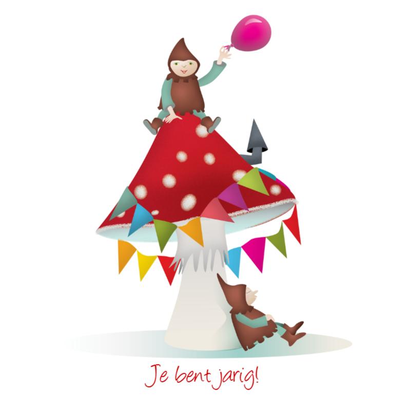 Verjaardagskaarten - Kabouter Feest
