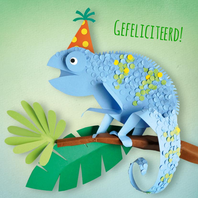 Verjaardagskaarten - Kameleon verjaardagskaart