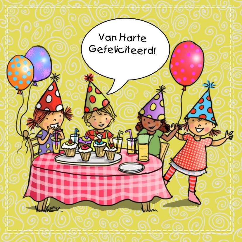 Verjaardagskaarten - Kinderfeest verjaardagskaart