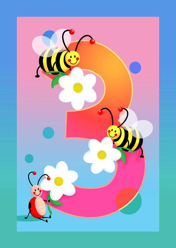 3 jaar kinderkaart Hoera 3 jaar   Verjaardagskaarten | Kaartje2go 3 jaar