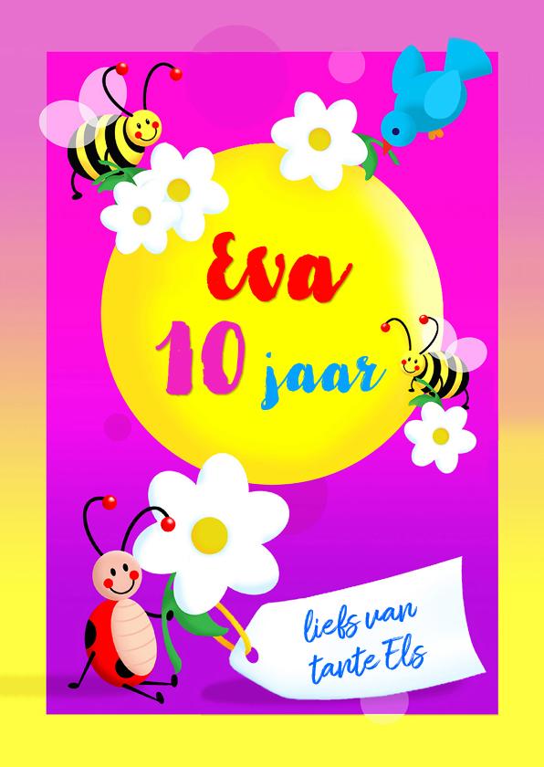 Verjaardagskaarten - Kinderkaart Leeftijd Naamkaart