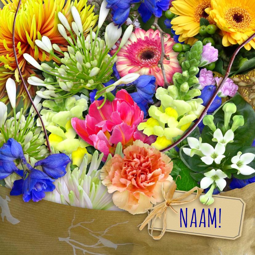 Verjaardagskaart Bloemen