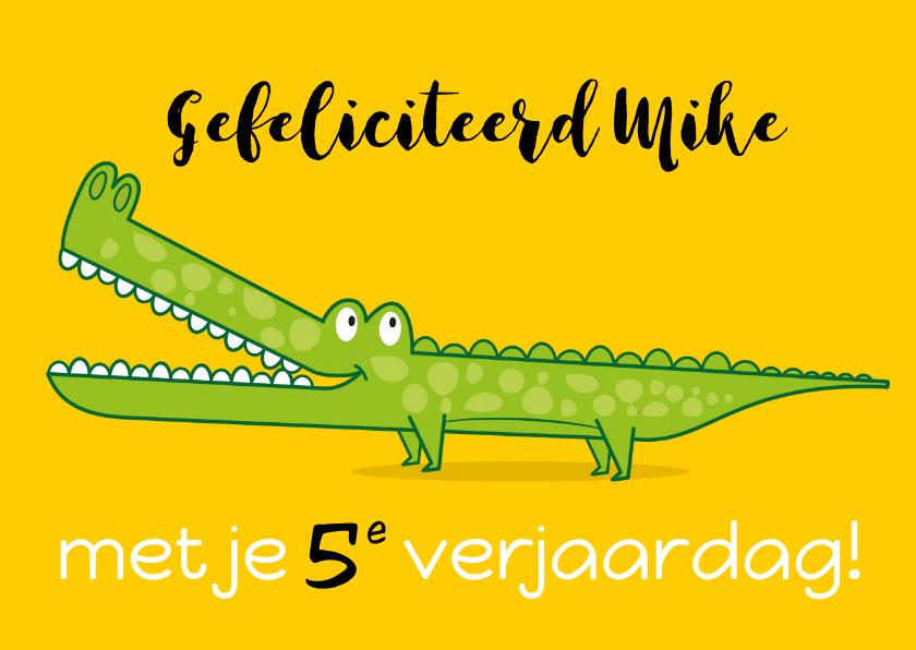 Verjaardagskaarten - krokodil verjaardagskaart