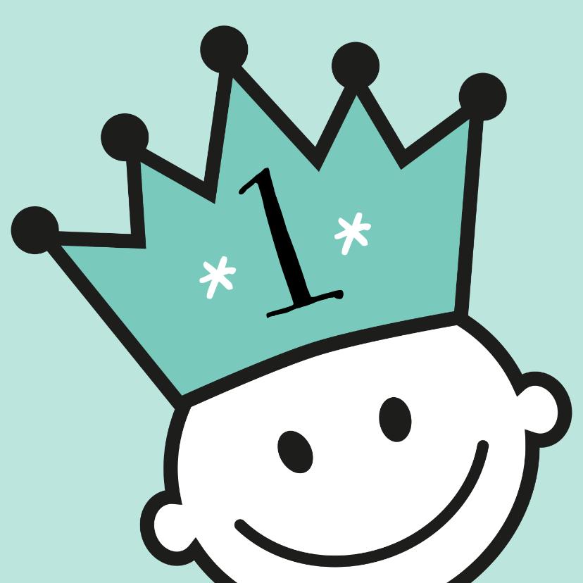 Verjaardagskaarten - kroon jarig uitnodiging of felicitatie