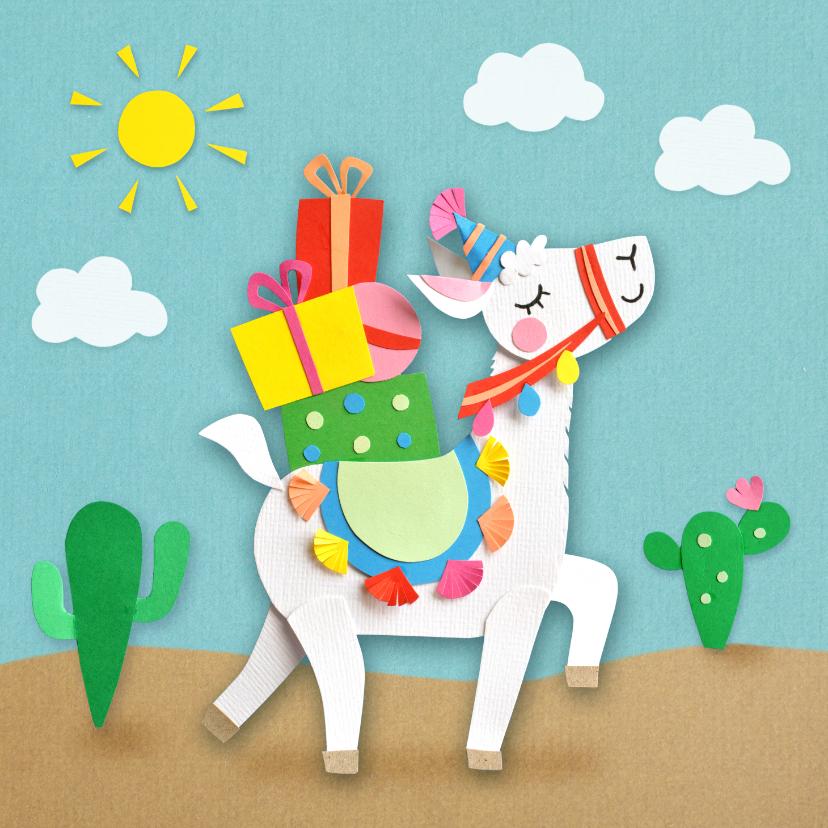 Verjaardagskaarten - Lama verjaardagskaart
