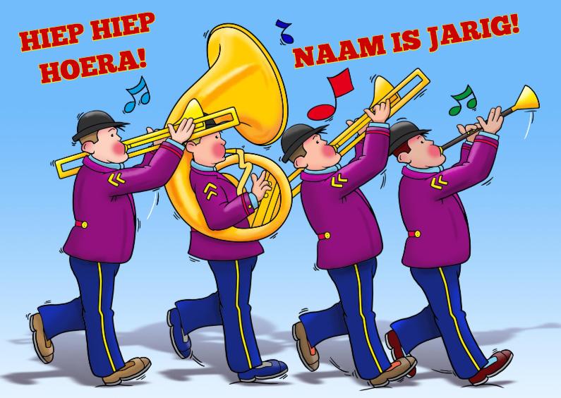 Verjaardagskaarten - Leuke verjaardagskaart Hiep Hiep Hoera met muziek