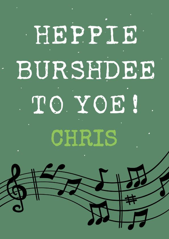 Verjaardagskaarten - Leuke verjaardagskaart met tekst: Happy Burshdee To Yoe!