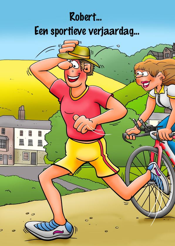 Verjaardagskaarten - Leuke verjaardagskaart voor een man die aan hardlopen doet