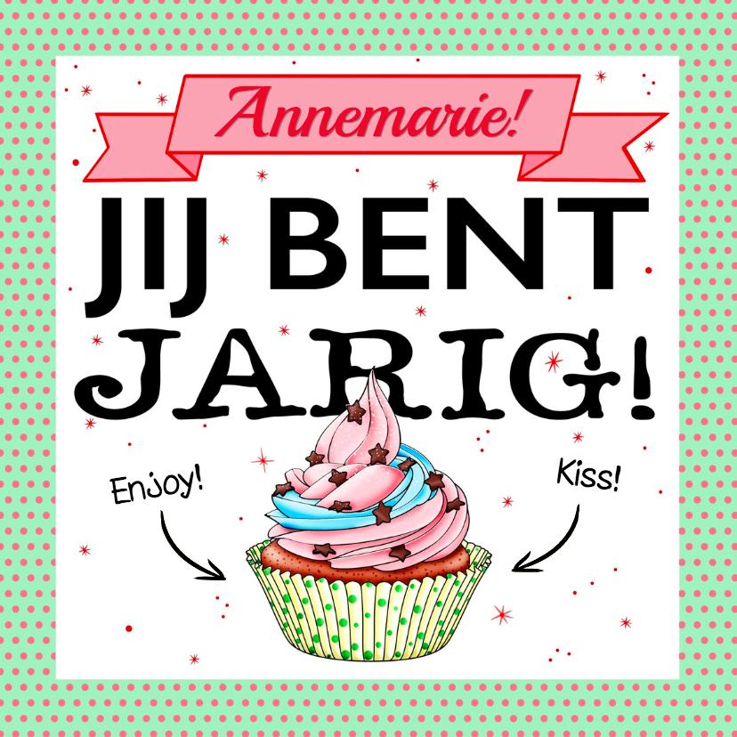 Verjaardagskaarten - Leuke verjaardagskaart voor een tiener met cake
