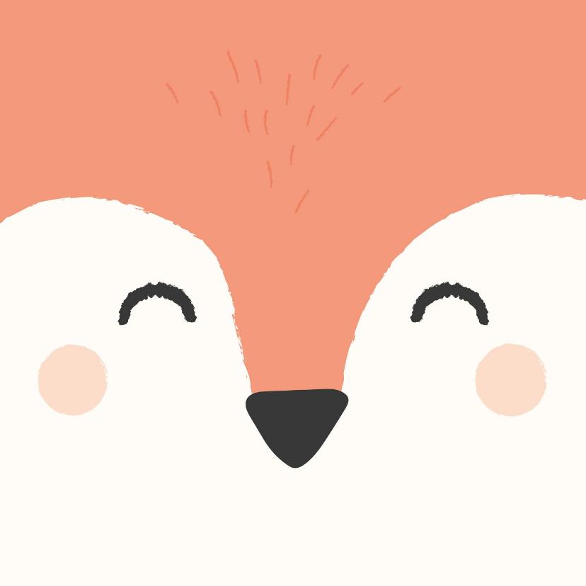 Verjaardagskaarten - Lief felicitatiekaartje met het gezicht van een vos