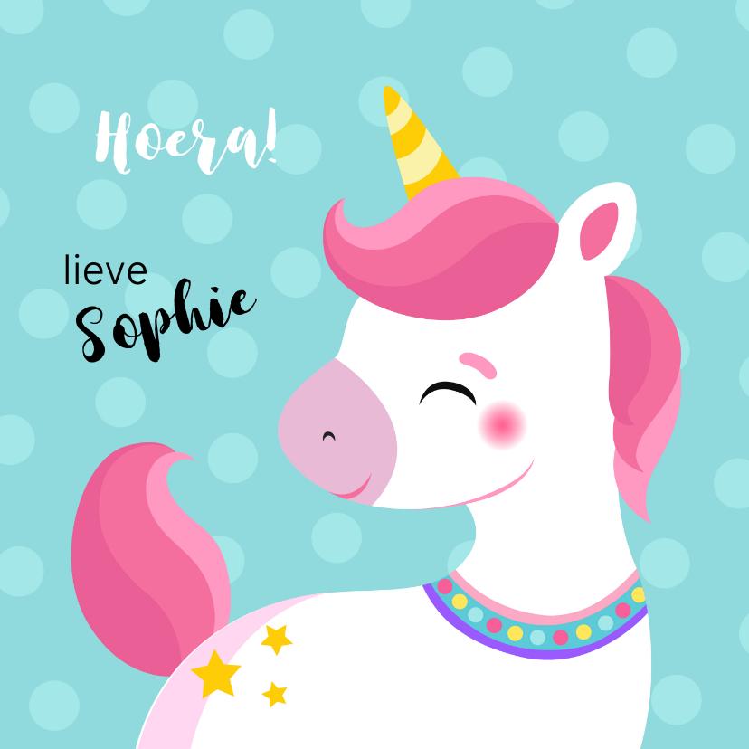 Verjaardagskaarten - Lieve unicorn verjaardagskaart