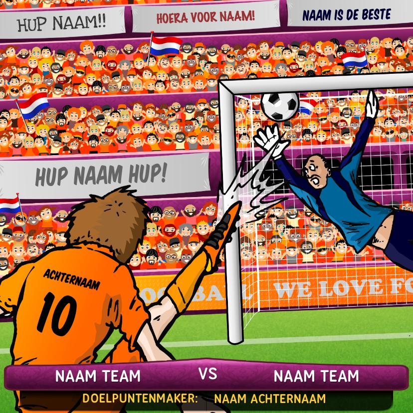 Verjaardagskaarten - Nederlands Elftal Oranje Voetbal Kaart