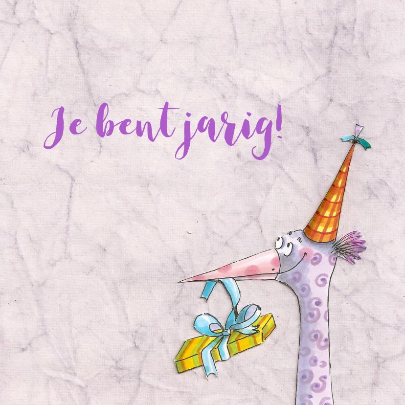 Verjaardagskaarten - Paarse paradijsvogel
