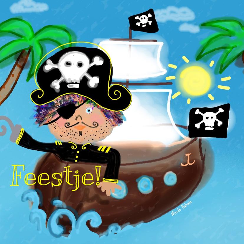 Verjaardagskaarten - Piraat tekst