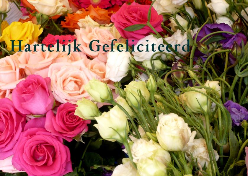 Verjaardagskaarten - Prachtige boeket bloemen