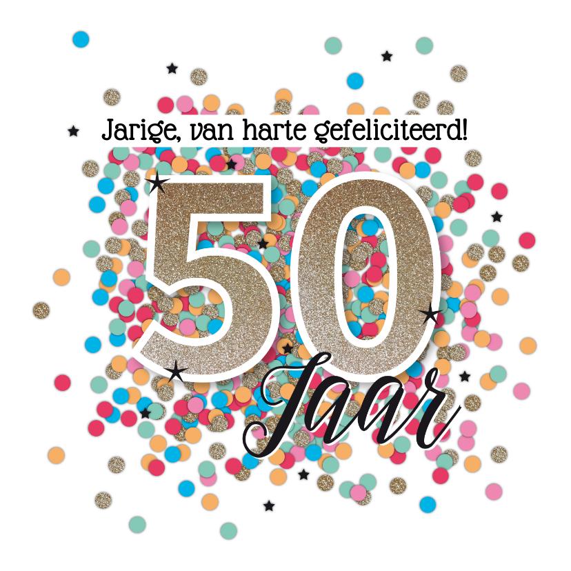 Verjaardagskaarten - Sarah 50 jaar felicitatie kaart verjaardag