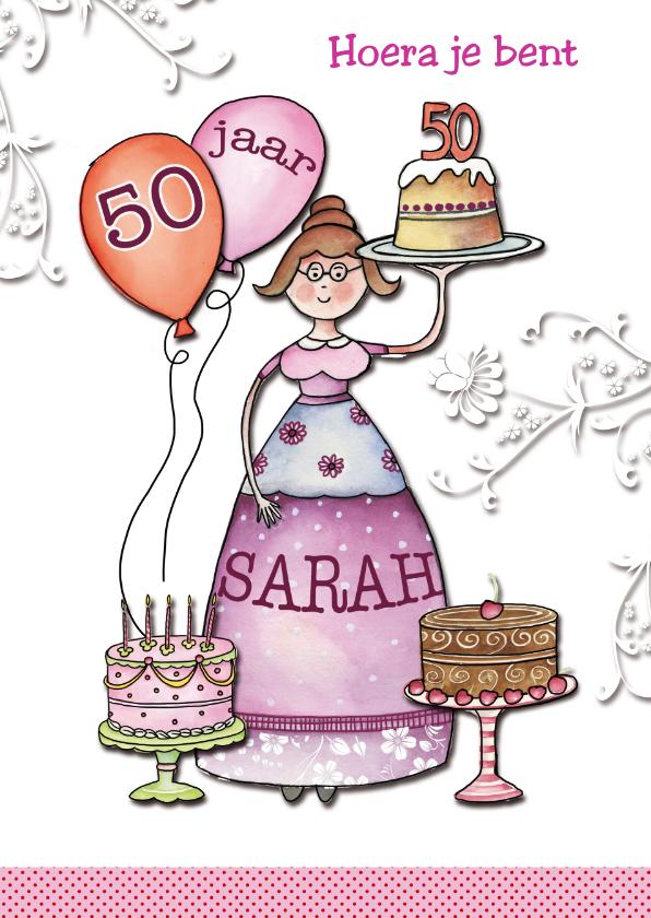 kaartje sarah 50 jaar Sarah 50 jaar met taarten   Verjaardagskaarten | Kaartje2go kaartje sarah 50 jaar