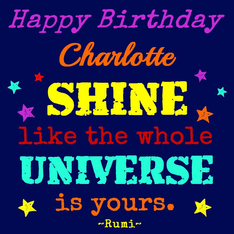 Verjaardagskaarten - Shiny Birthday