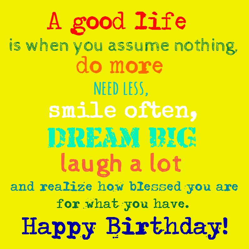 Verjaardagskaarten - Smile often and dream big