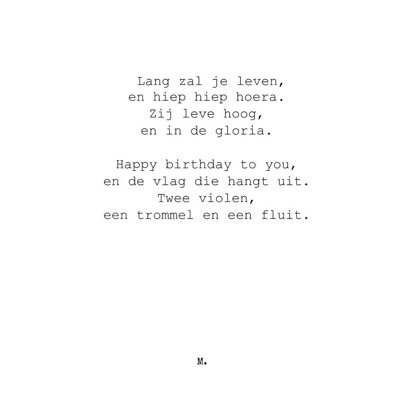 Verjaardagskaarten - Stijlvolle verjaardagskaart met grappig gedicht