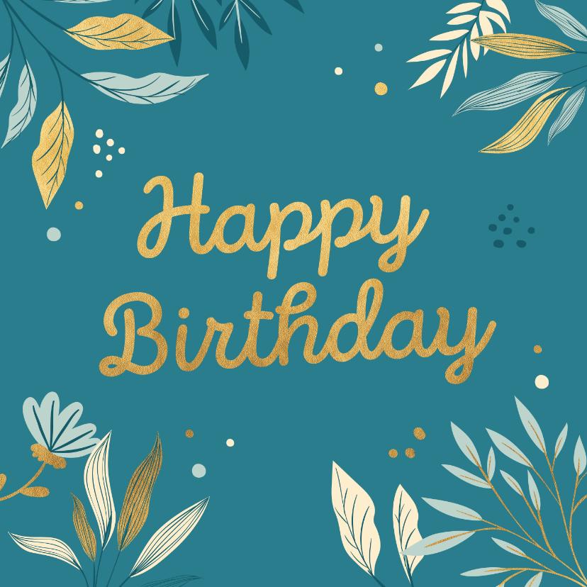 Verjaardagskaarten - Stijlvolle verjaardagskaart met stippen