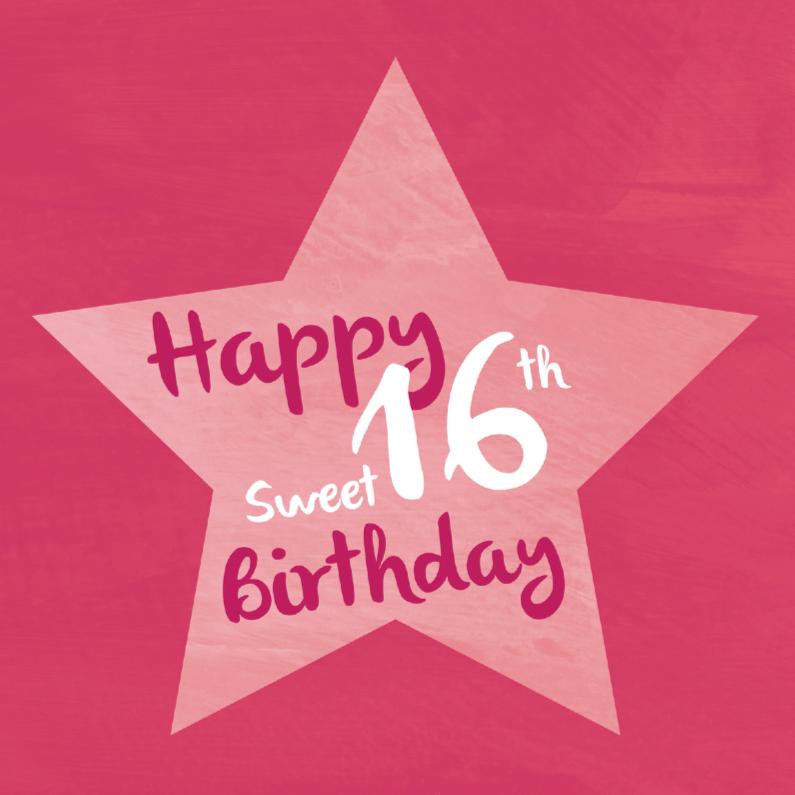 Verjaardagskaarten - Sweet 16 verjaardagskaart