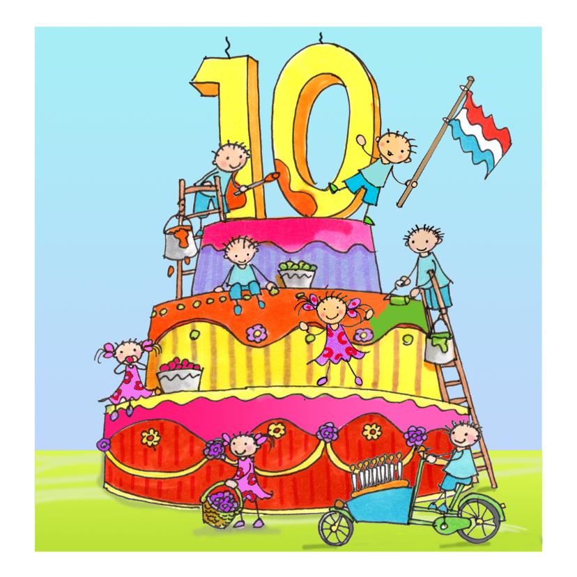 Verjaardagskaarten - tien jaar anet illustraties