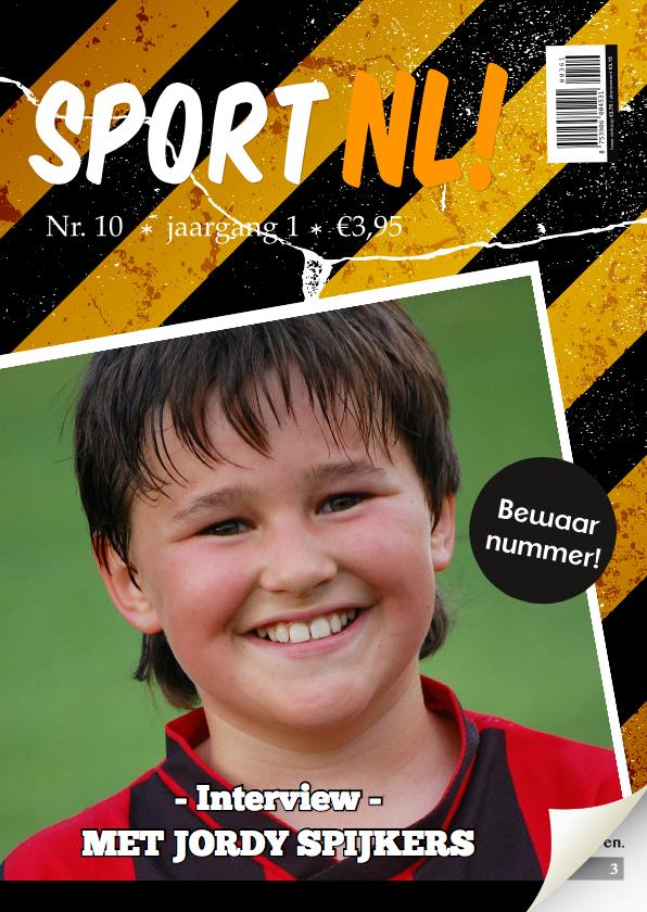 Verjaardagskaarten - Tijdschrift kaart sport man 1LS3