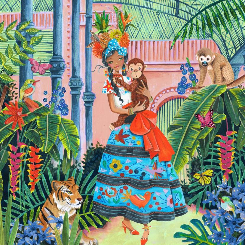 Verjaardagskaarten - Tropisch Meisje Verjaardag