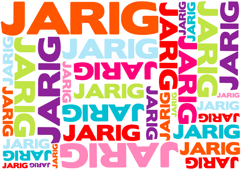 jarig afbeelding Typografie Jarig Liggend   Verjaardagskaarten | Kaartje2go jarig afbeelding