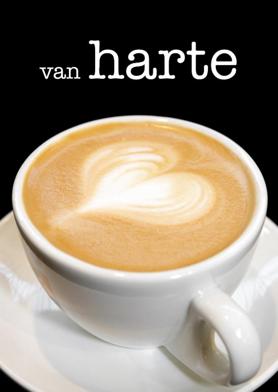 Verjaardagskaarten - Van Harte - Capppuccino