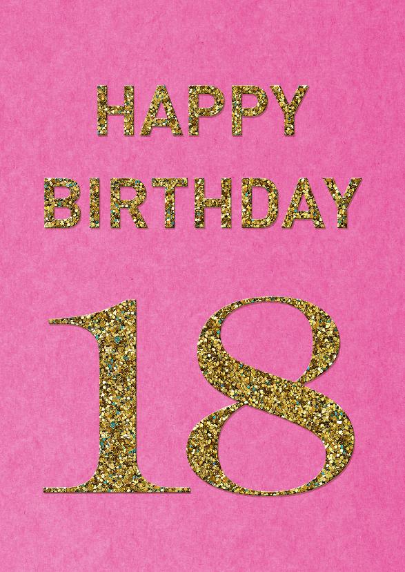 Magnifiek Verjaardag Vrouw 18 Jaar | Verjaardag @GI88