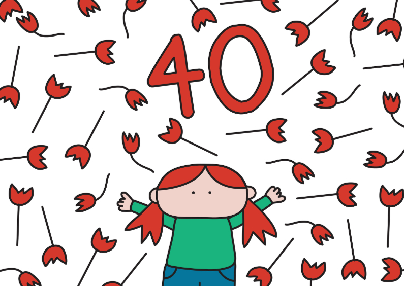 Verjaardagskaarten - Verjaardag 40 jaar
