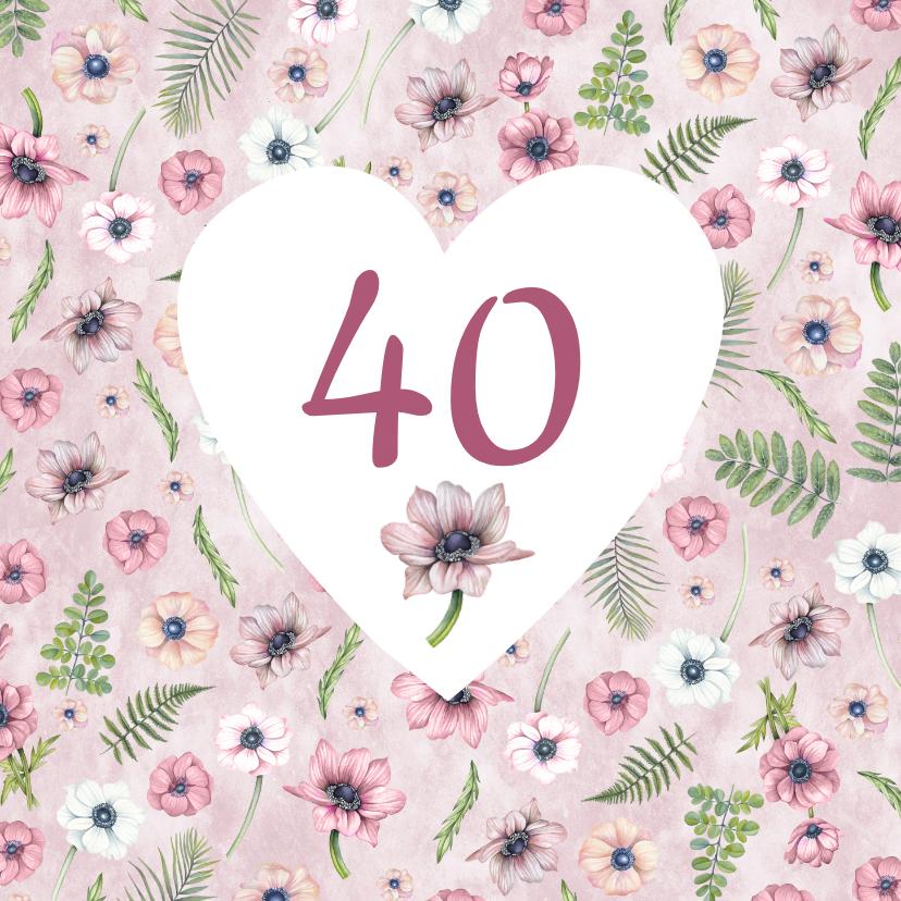 Verjaardagskaarten - Verjaardag anemonen leeftijd