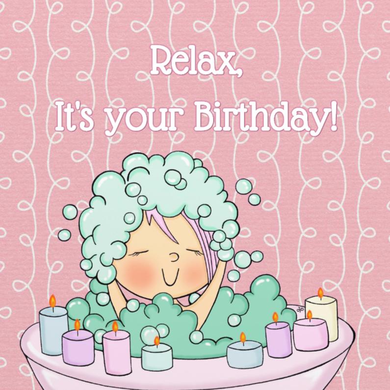 Verjaardagskaarten - Verjaardag Bad en Bubbels - TbJ