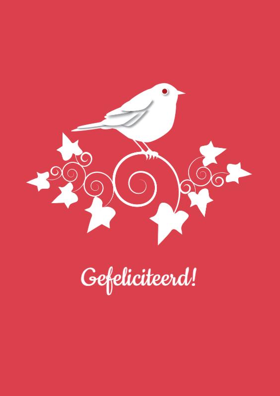 Verjaardagskaarten - Verjaardag - Bird Ivy Red - MW