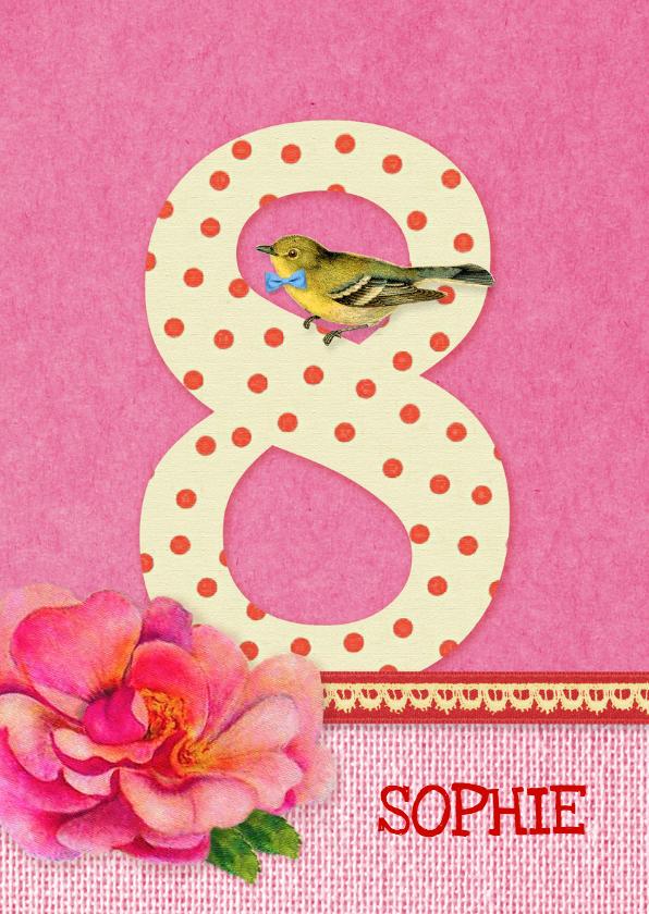 Verjaardagskaarten - Verjaardag Bloem Meisje 8