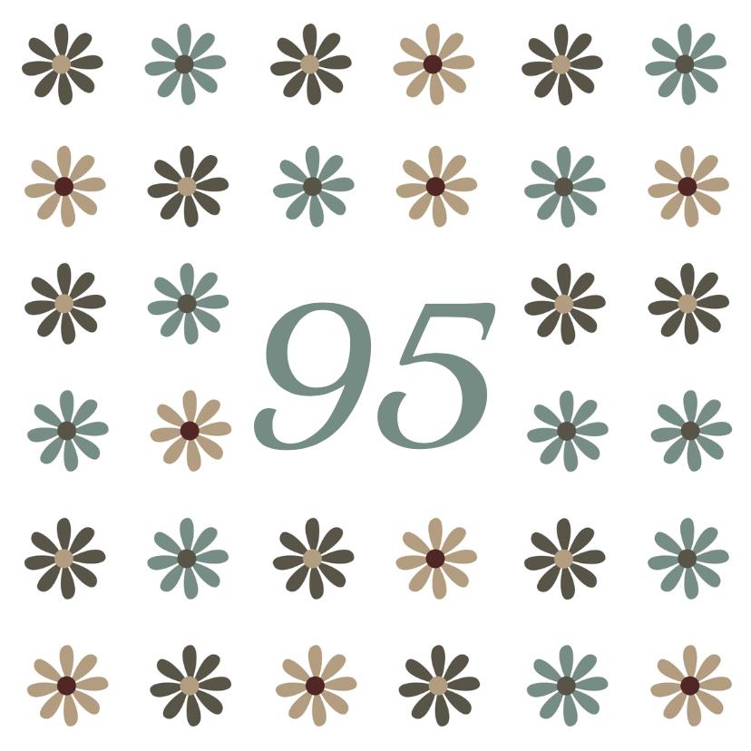 Verjaardagskaarten - Verjaardag bloemen leeftijd