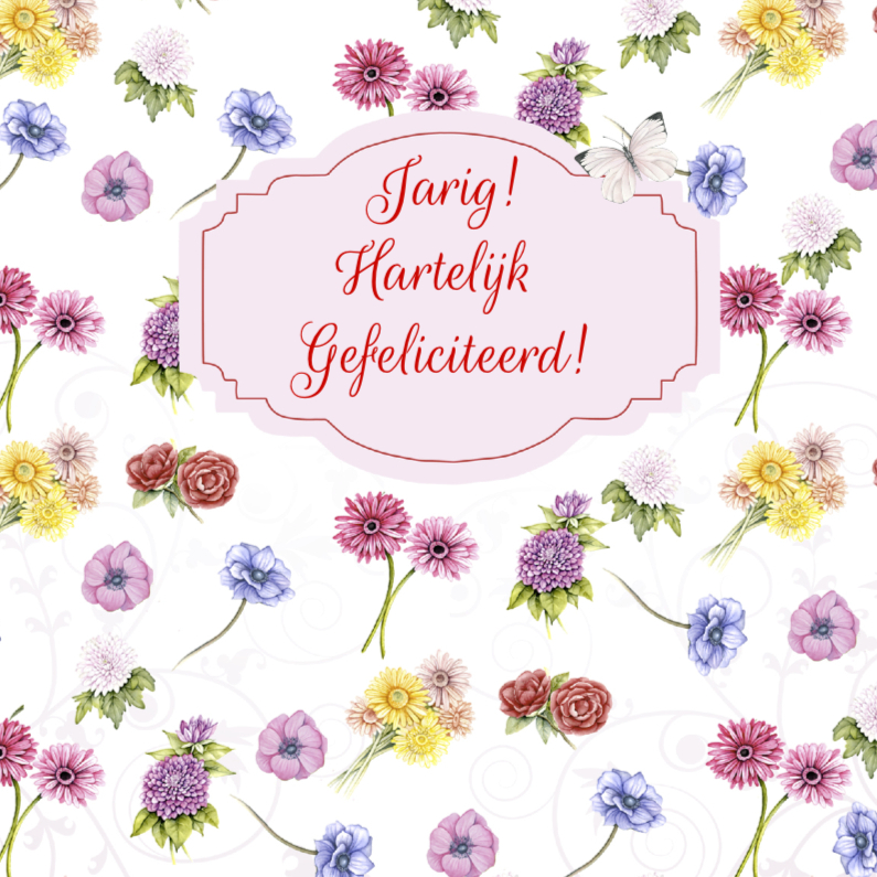 Verjaardagskaarten - verjaardag bloemenfestival