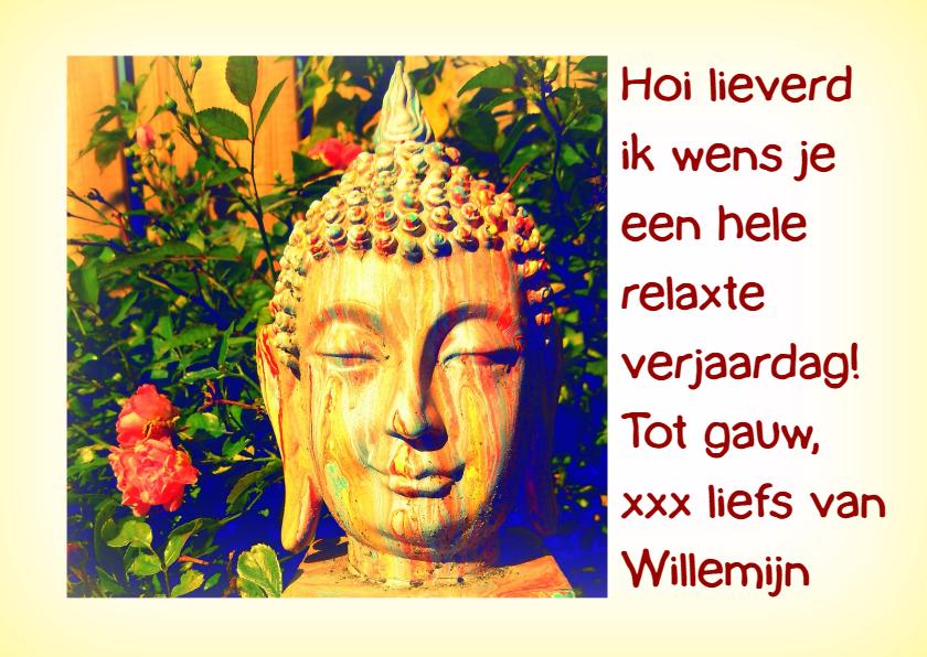 Verjaardagskaarten - Verjaardag Boeddha Relax IW