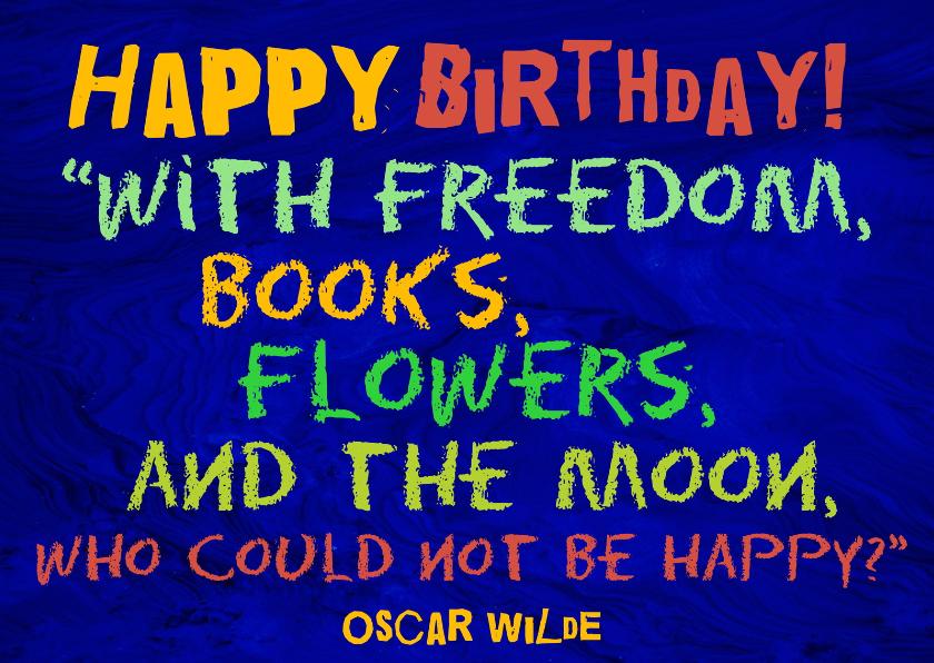 Verjaardagskaarten - Verjaardag boekenwurm IW