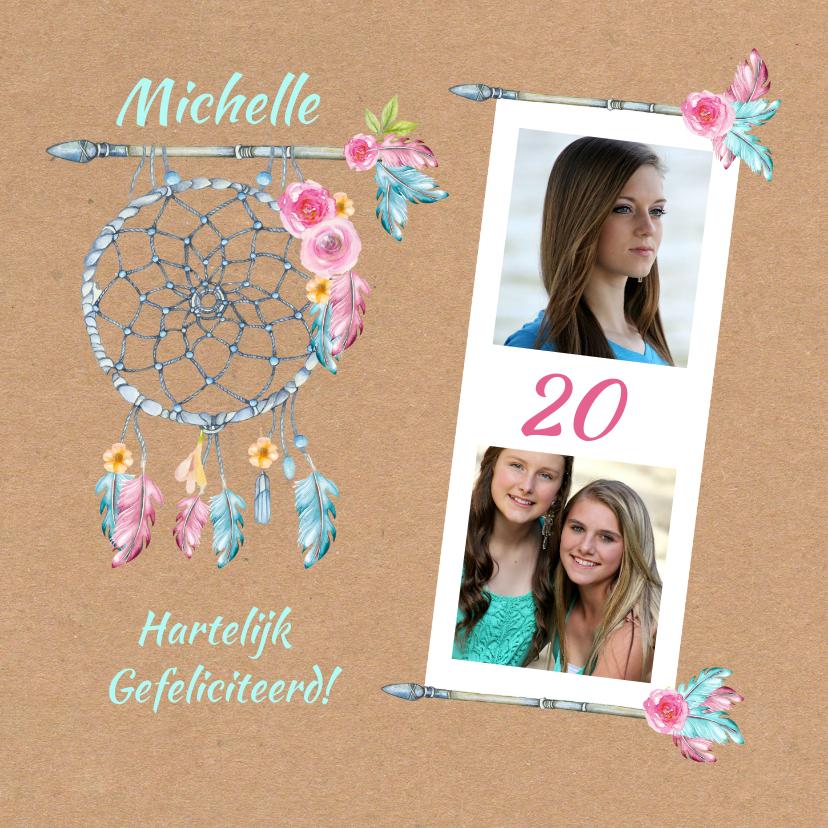 Verjaardagskaarten - Verjaardag bohemian leeftijd