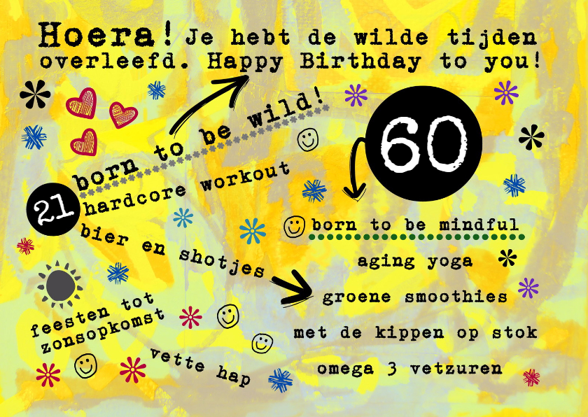 60 jaar grappig Grappige Verjaardagskaarten 60 Jaar   ARCHIDEV 60 jaar grappig